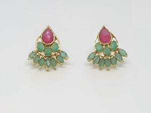 Ruby Green Studs