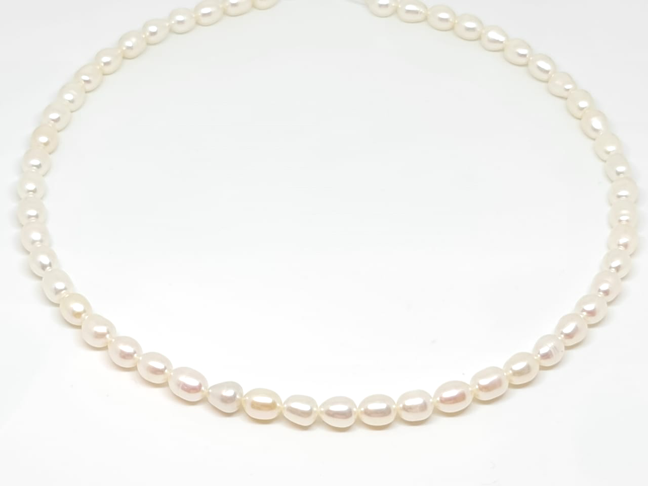 Oval Pearl Necklace/014
