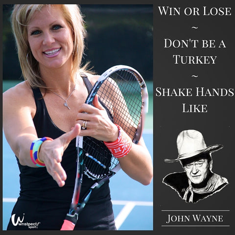 Image of tennis player shaking hands by Wristpect Sport