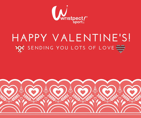 Wristpect Sport Valentine heart graphic for Tennis Players are Seeing Red blog story