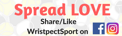 Whimsical tennis ball Spread Love social media logo