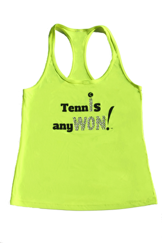 Tennis AnyWON! performance tank by Wristpect Sport
