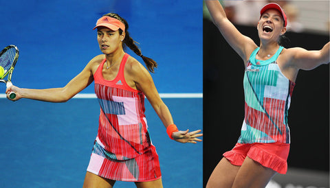Ana Ivanovic and Angelique Kerber wearing 2016 Australian Open fashion