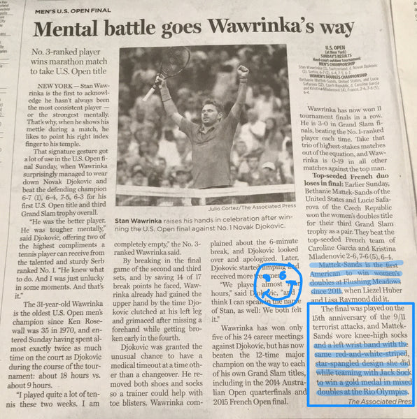 Dallas Morning News article shared by Wristpect Sport