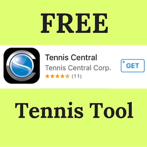 Tennis Central Mobile App as shared by Wristpect Sport