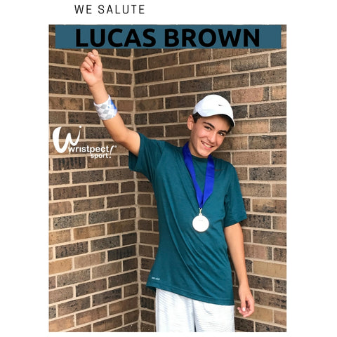 Junior Tennis Player Lucas Brown Wearing Wristpect Sport