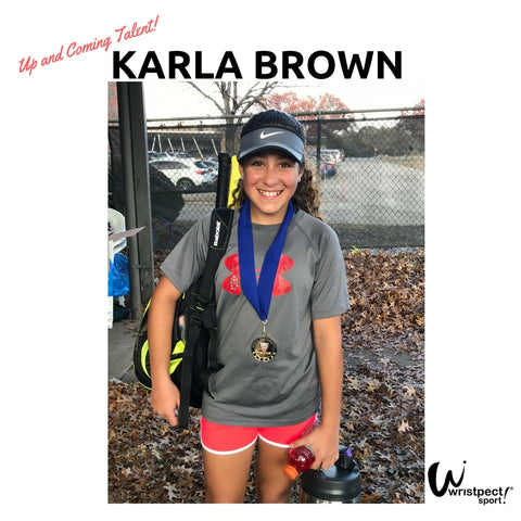 Karla Brown Junior Tennis Player story by Wristpect Sport