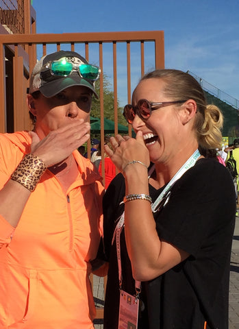 Bethanie Mattek Sands & Janelle Sideris share a moment at the BNP Paribas