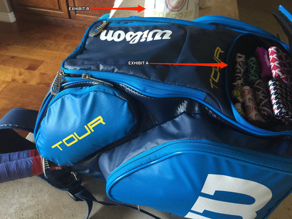 Wilson Tour Tennis Bag with Wristpect sport wristbands