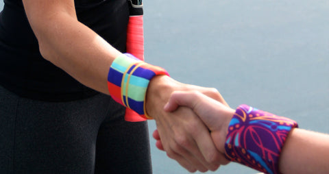 Wristpect Sport wristbands in action