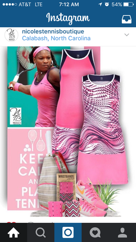 Wristpect Sport shares Nicole's Tennis boutique Instaram post of tennis pinks