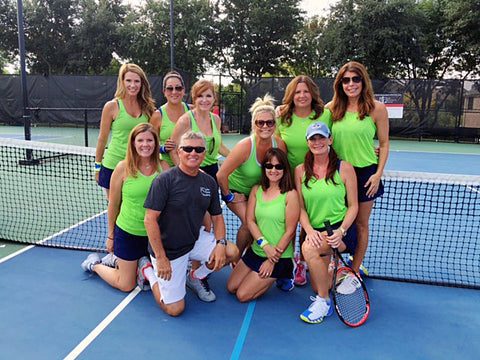Kathy's tennis team