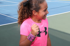 Karla Brown Junior Tennis Player Modeling Wristpect Sport wristband