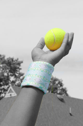 Indian inspired tennis wristband by Wristpect Sport