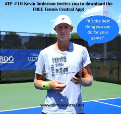 ATP Pro Tennis Player Kevin Anderson's image shared by Tennis Central & Wristpect Sport