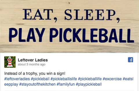 Pickleball sign shared by Wristpect Sport