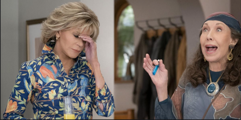 Netflix image Grace and Frankie with link to Netflix