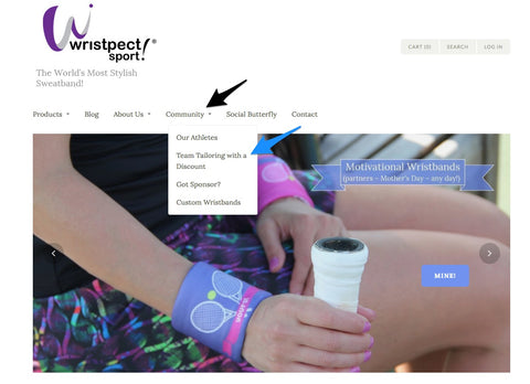 Team Tailoring Navigation by Wristpect sport