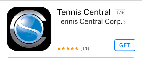 Tennis Central's app icon as shared by Wristpect Sport