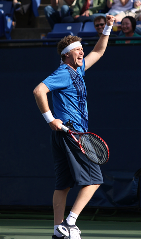 Will Ferrel playing tennis