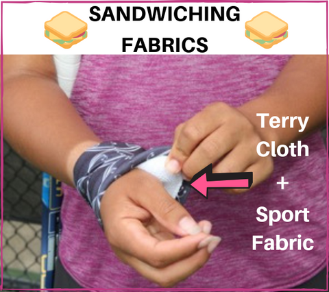 Wristpect Sport 2-fabric construction image with tennis player