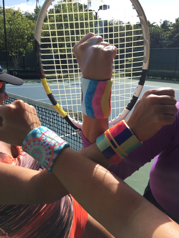 Tennis team wristbands by Wristpect Sport