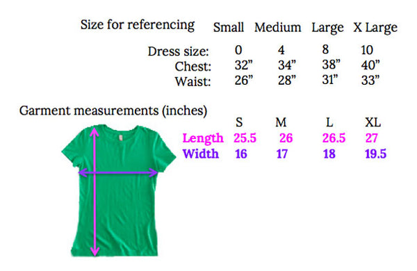 Wristpect Sport Tshirt Next Level Sizing chart