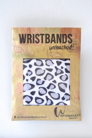 Wristpect Sport Snow Leopard  wristband in packaging