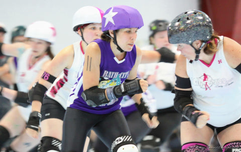 Sparky Anderslam Roller Derby Jammer in action shared by Wristpect Sport