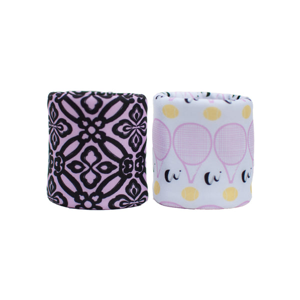 Fleur de Tennis double wristband set with 2 layered construction for more absorption
