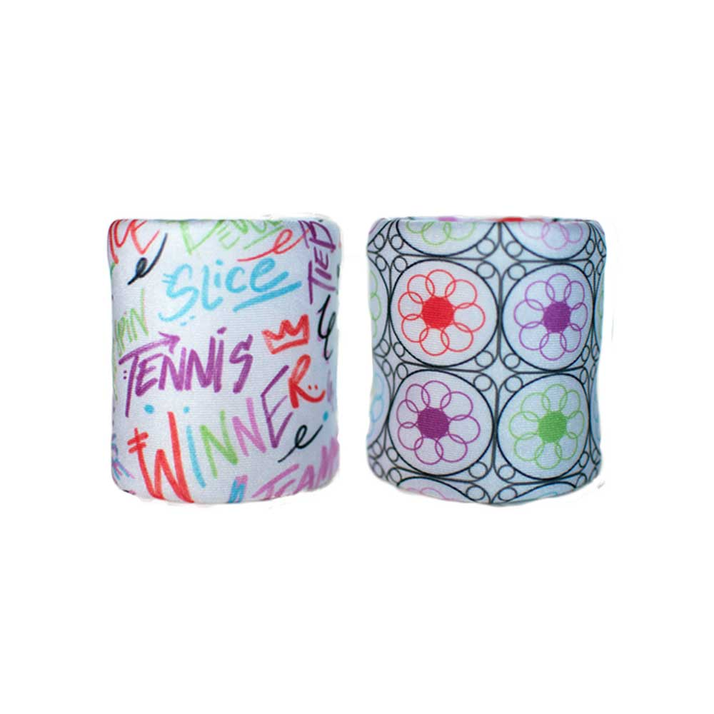 Graffiti Garden double wristband set with 2 layered construction for more absorption