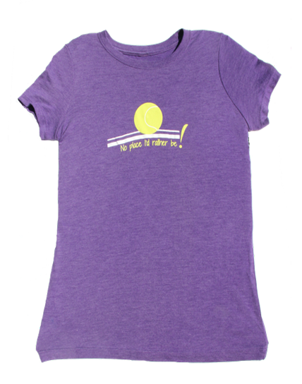 No Place crew neck 100% cotton T-shirt in purple