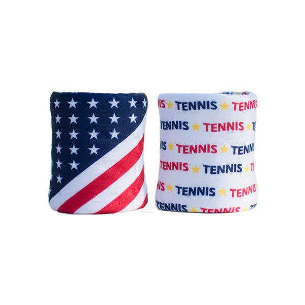 Stars Stripes double wristband set