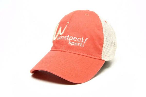 Cross Court Coral cap with wristpect sport logo