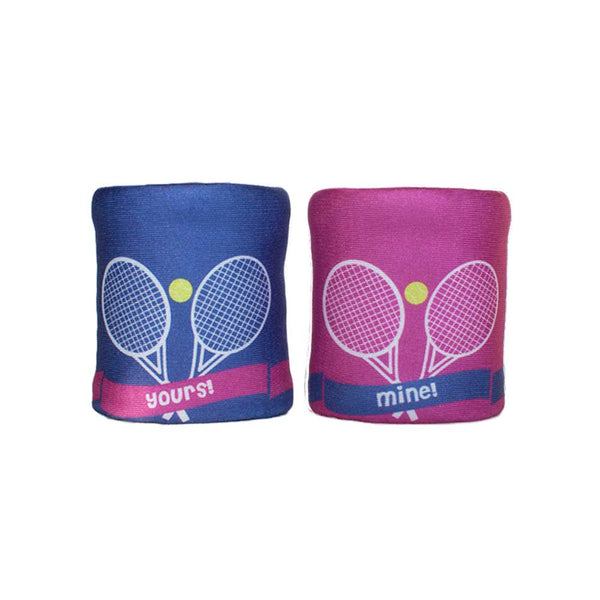 Yours Mine double wristband set with 2 layered construction for more absorption