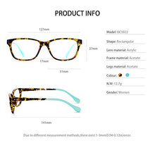 Load image into Gallery viewer, OCCI CHIARI Progressive Multifocus Women Rectangle Reading Glasses Anti Blue Light Reader 1.0 1.5 -6.0