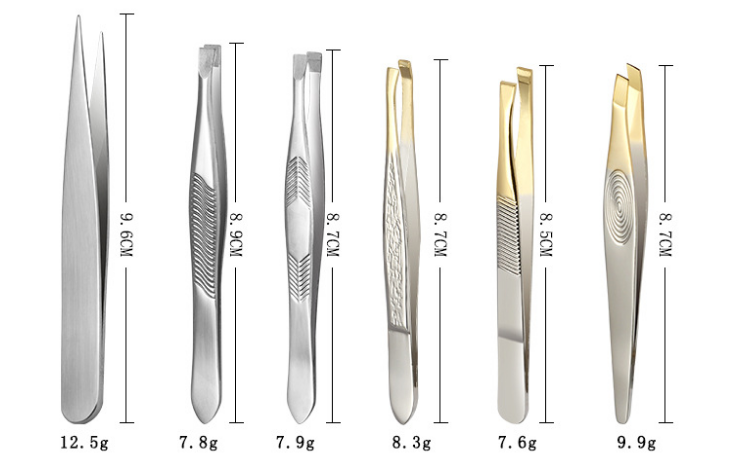 Facial Hair Eyebrow patterned tweezer