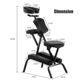 Choice Metal Portable Folding Massage Chair-Black