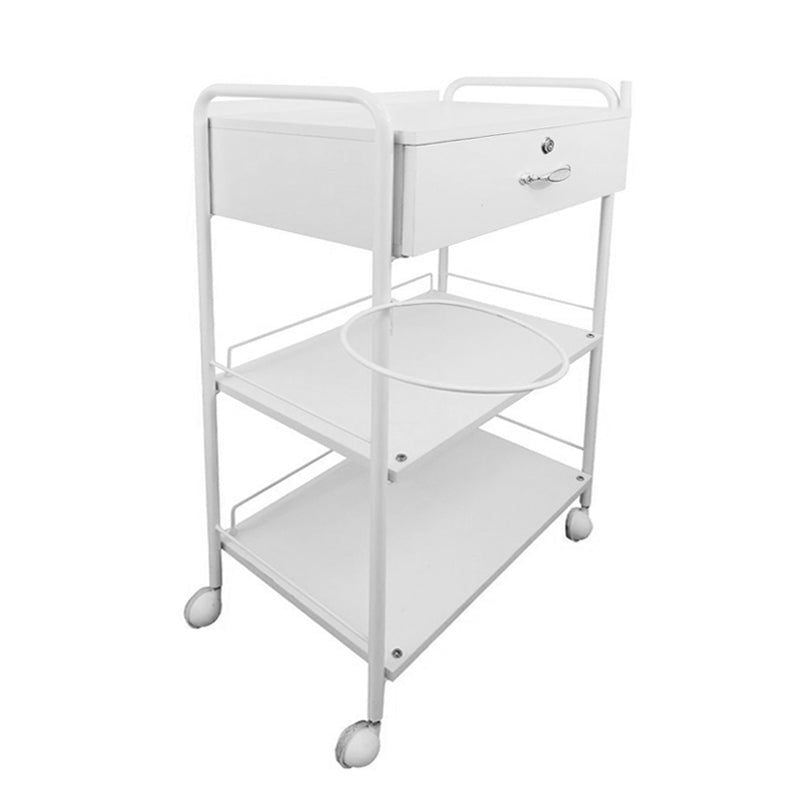 Beauty Trolley with Lockable drawer and Lamp Attachment Holder - ST271 - Greenlife