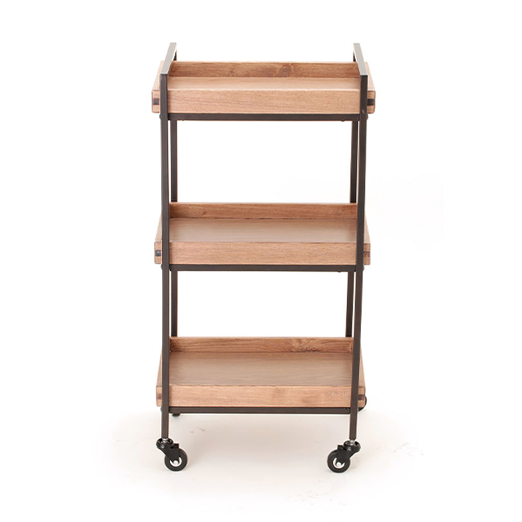 Beauty Wooden Three Shelves Trolley - ST481 - Greenlife