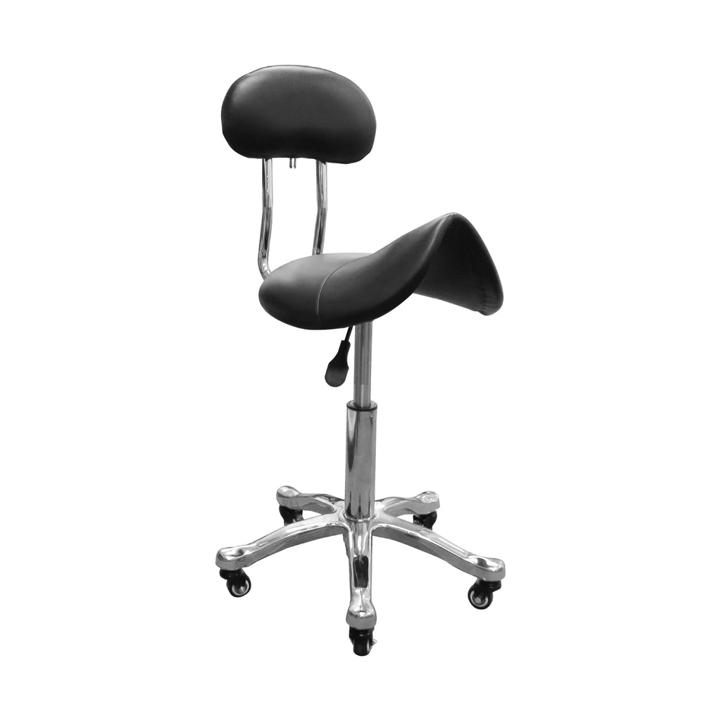 Deluxe Hydraulic Adjustable Height Rolling Saddle Stool - RSSWB221/2