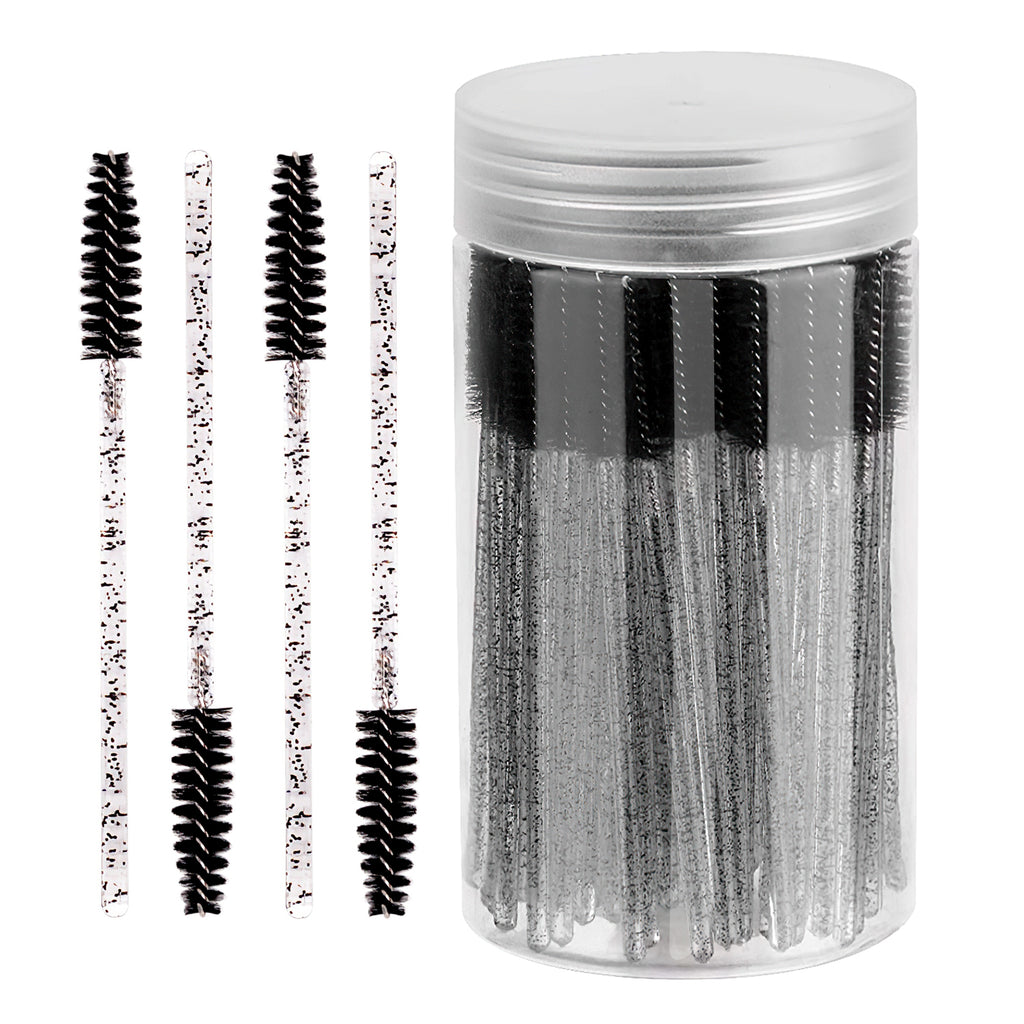 100 Pcs in Bottle Mascara Wands Applicator(crystal)