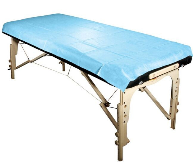 Disposable Oil & Water Proof Massage Table Sheet -  Blue 20pc/bag