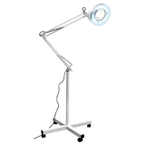 LED 5X Rolling Magnifying Lamp with Adjustable Arms and Rolling stand