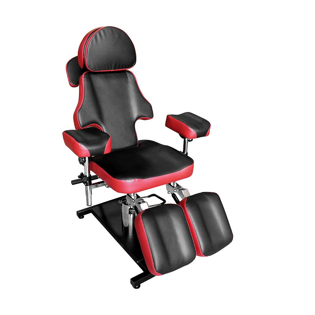 Luxury Adjustable Hydraulic Tattoo Chair RED&BLACK - Greenlife