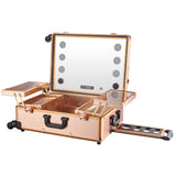24in Makeup Case with LED Lamp and Bluetooth