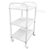 Beauty Metal Frame Three Shelves Trolley with Bowl Holder - ST391 - Greenlife