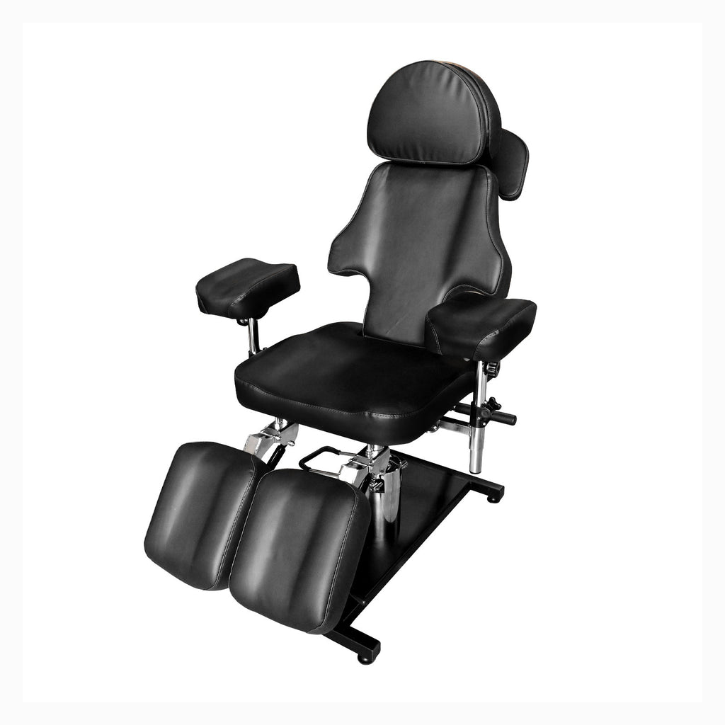 Luxury Adjustable Hydraulic Tattoo Chair BLACK - Greenlife