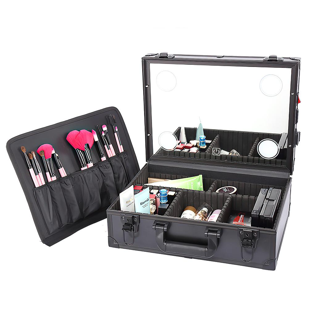 Cosmetics Makeup Case with Lights