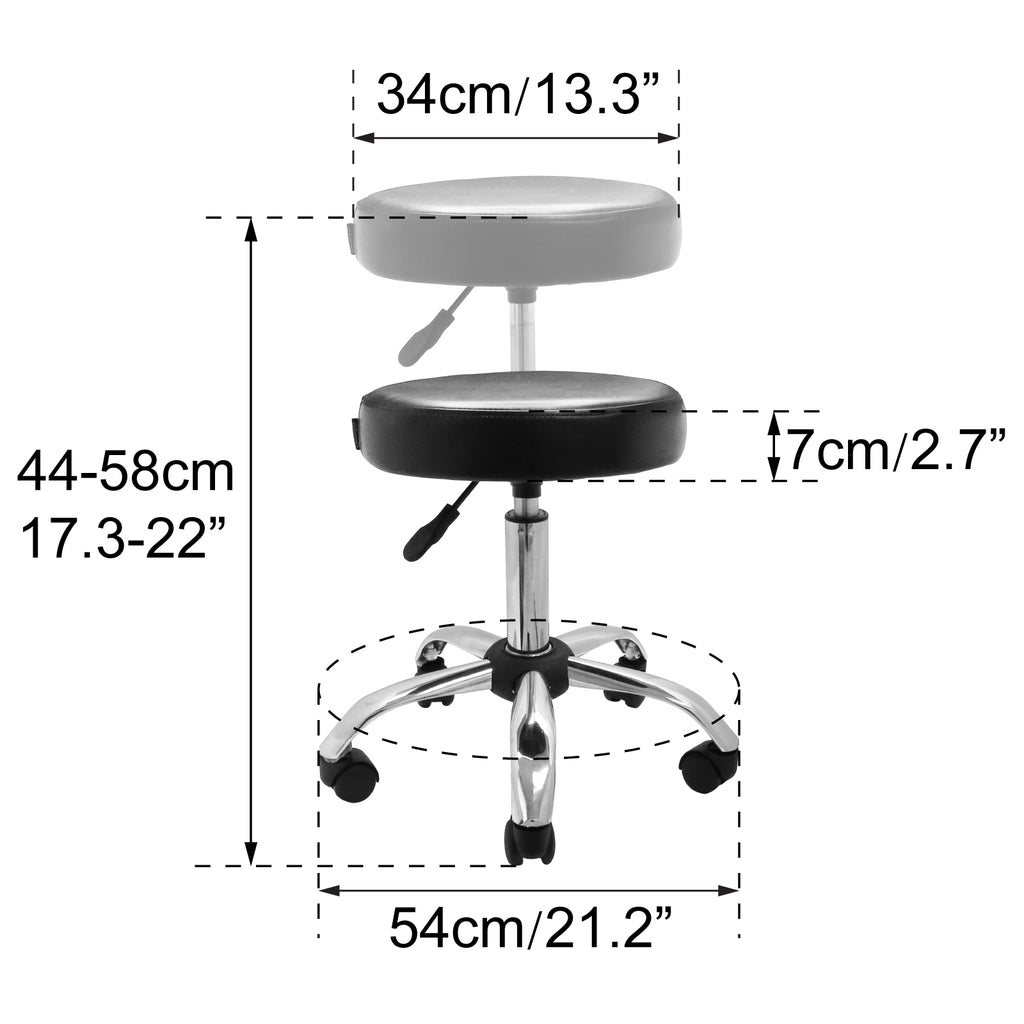 Deluxe Hydraulic Adjustable Height Rolling Stool - RS541/2